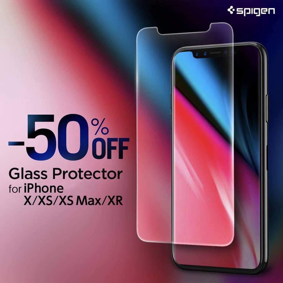 「iPhone XS/XS Max/XR」ガラスフィルムを半額セール開催中「GLAS.tR SLIM」Spigen