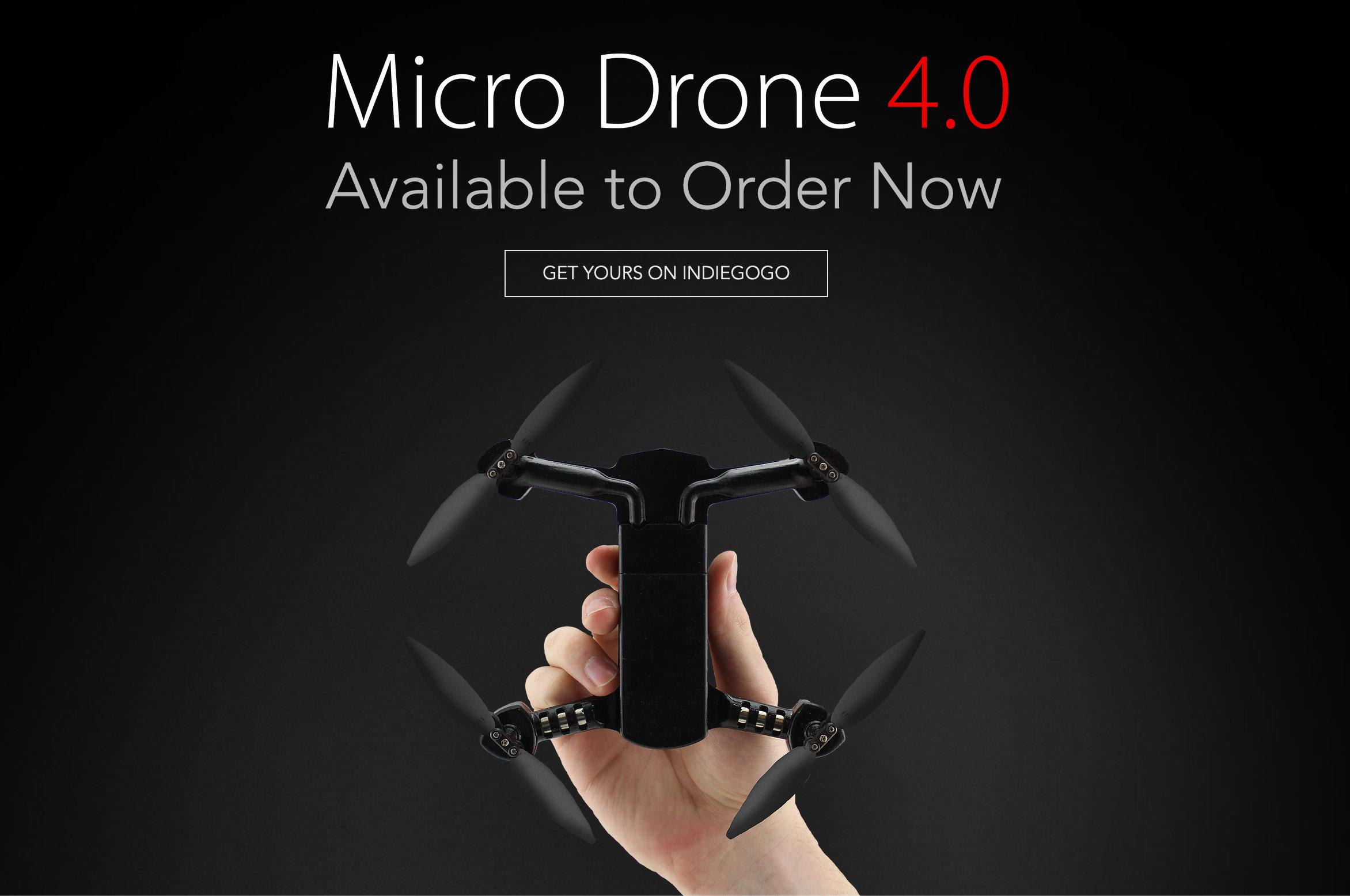 MicroDrone4.0 手のひらサイズで2軸ジンバル搭載のドローン!
