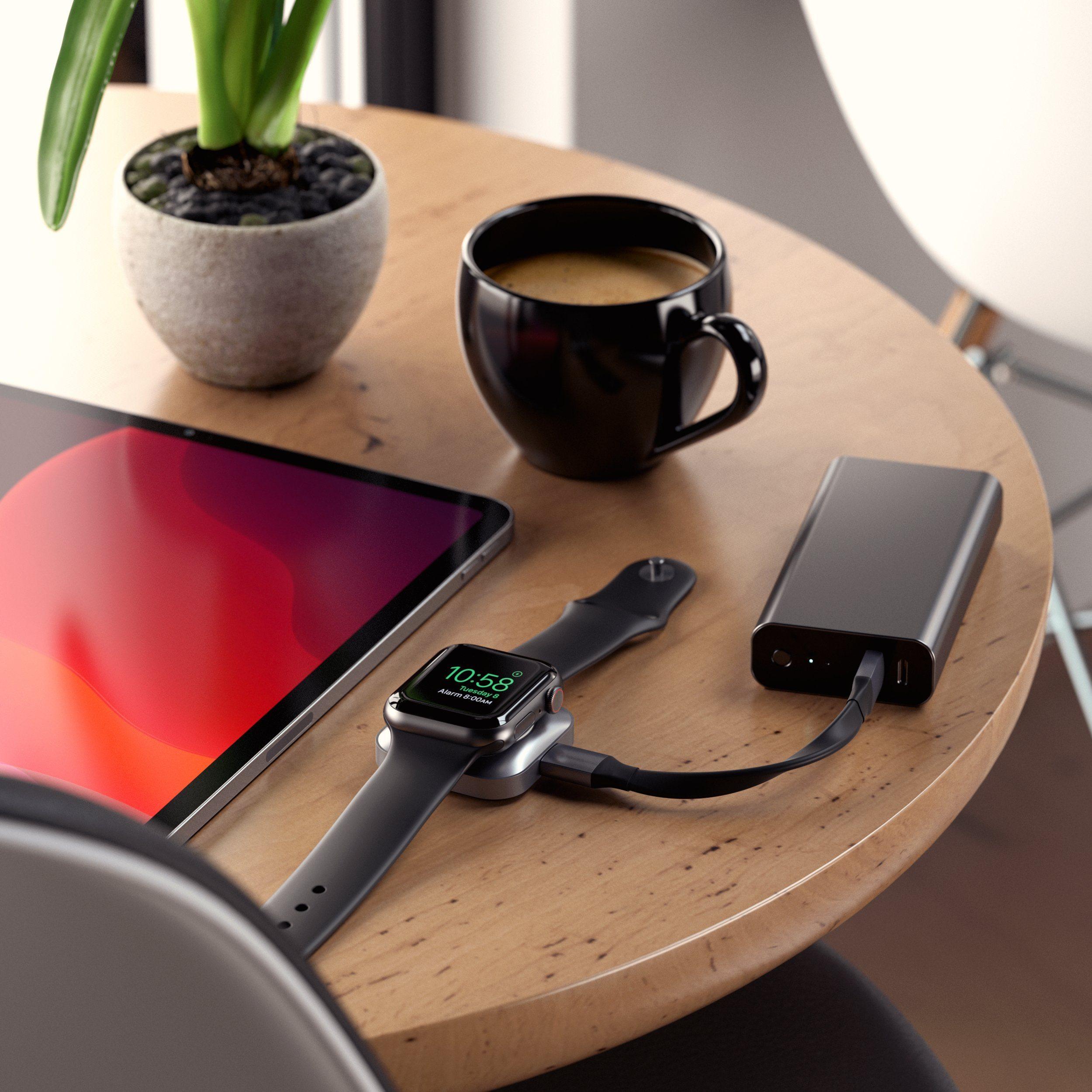 Satechi、USB-Cケーブル付きでiPadやMacBookに直付けしてApple Watchを充電できるドックを発表